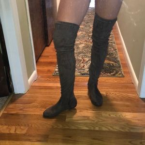 Over the knee thigh-high suede boots
